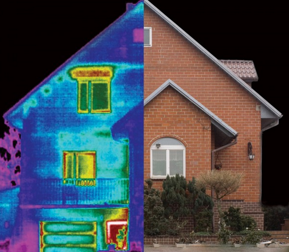 Тепловизионного обследования внешних стен дома