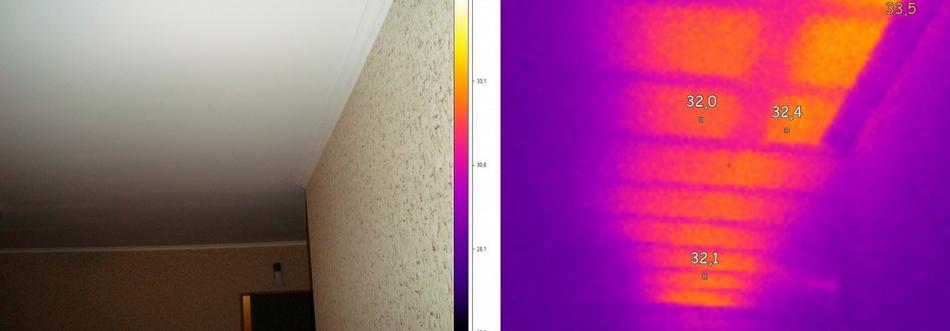 Тепловизионного обследования потолков