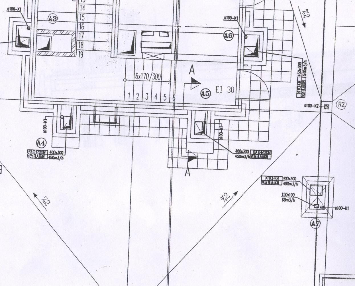 Фрагмент плана крыши